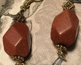Sparlking Goldstone Earrings