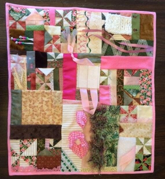 Fidget Quilt / Sensory Blanket - Afternoon Tea - Fundraiser - Haiti Foundation Against Poverty