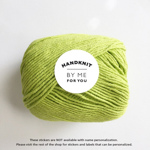 Knitting Labels Handmade : Handmade by stickers knitting labels gifts for knitters