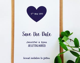 Love Heart Save The Date card - SD10