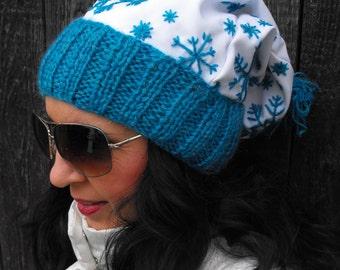 turquoise cap