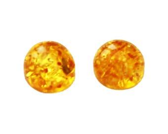 Green, Honey, Lemon Baltic Amber Round Pieces, jewellery making, Cabochon semi precious gemstone Flat back, real Amber Bead jewelry supplies