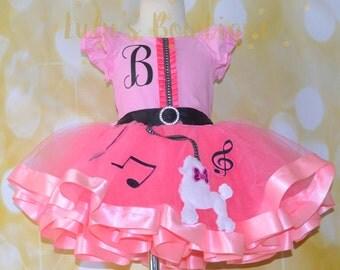 Sock Hop Poodle Skirt Tutu Dress, Sock Hop Halloween Costume, Pageant tutu dress, Photography prop