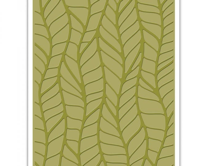 New! Sizzix Tim Holtz Texture Fades Embossing Folder - Leafy 661826