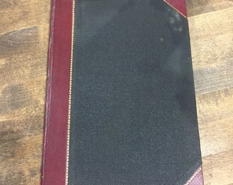 Antique Ledger/Record/Journal Book Great Coffee Table Book
