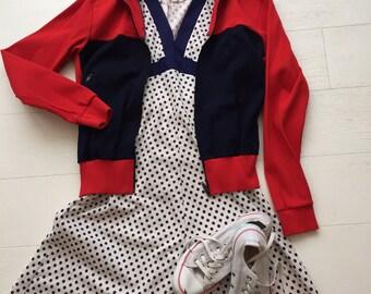 Vintage 60's Dotty poly dress