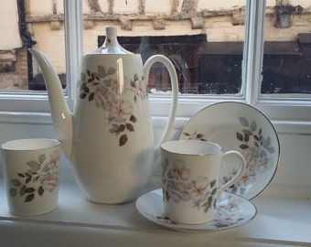 Vintage Royal Adderley Fine Bone China Part Coffee Set Pot Coffee for 2