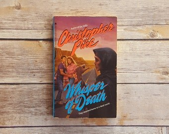 Whisper Of Death Christopher Pike Novel Teen Horror Book Mystery Story Teen Survival Book 90s Horror Paperback Great Summer Read Junior High