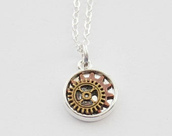 Steampunk Necklace, Gears Necklace, Mechanic Necklace, Steampunk Gears, Steampunk Jewelry, Steampunk Cosplay, Steampunk Necklace