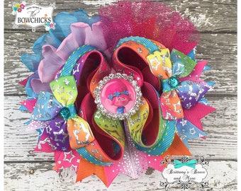 Troll Princess OTT Bow- Over the Top Hairbow ~ Trolls inspired hairbow ~