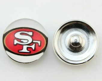 San Francisco 49ers Snap Button Charm- QTY: 1