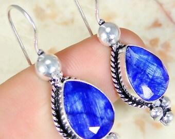 Sapphire 925 earrings