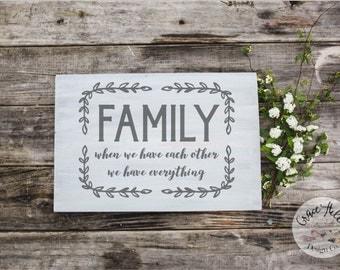 FAMILY custom wood sign