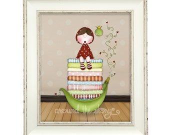 The Princess and the Pea - A5 Giclée print