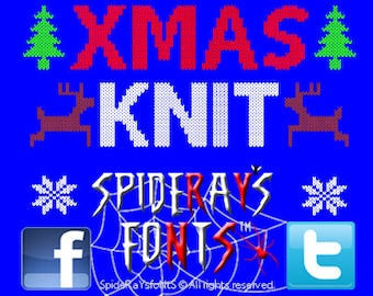 XMAS KNIT Commercial Font