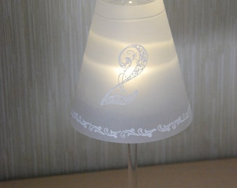 Table number vintage wine glass Lampshade