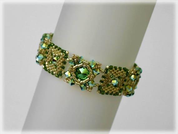 Greeny bracelet beading TUTORIAL