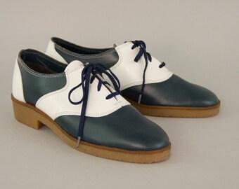 white saddle shoes etsy