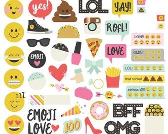 Simple Stories Emoji Love Bits and Pieces Ephemera Die-Cuts