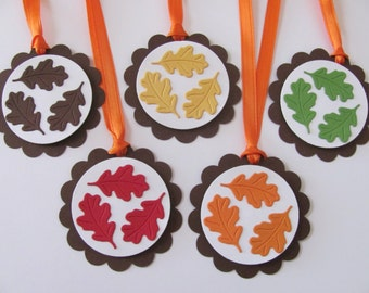 Fall Gift Tags, Fall Leaves Favor Tags, Autumn Gift Tags, Fall Leaves, Hang Tags, Thanksgiving Gift Tags, Gift Tags, Fall Favor Tags