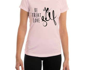 Treat Yo Self Tee-- Original T Shirt- Be Yourself- Fitted Tee Shirt- Treat Yourself- Solar Shirt- Treat Yo Self Gift- Motivational Quote