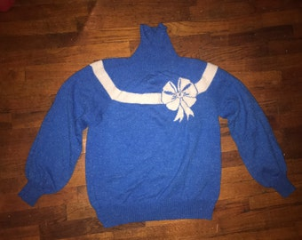 So Ugly it's cute Christmas sweater from the 80's Womans L/XL MARKED DOWN 10 bucks!