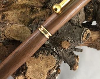 Slimline Twist Pen - Black Walnut w/gold - Hand-turned
