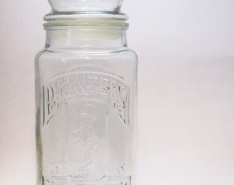 Vintage 1981 Limited Edition Planters 75th Anniversary Commemorative Jar Canister Decanter Practical Storage for Coins, Buttons, & More!