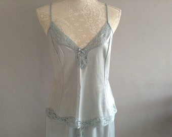 Vintage Gossard  Blue Lace  Cami and Half slip