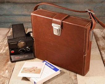 Polaroid SX-70 Leather Carrier Case #116