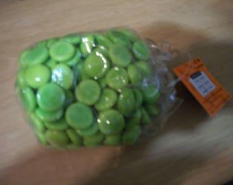 Bag of Lime Green Decorative Rocks