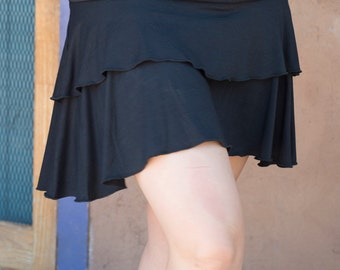 double tiered bamboo skirt