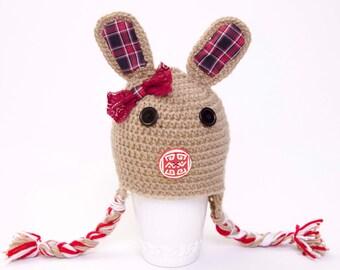 Crochet  teddy bear  hat girl boy baby hat baby shower gift  Toddler hat ,children hat ,Newborn hat ,toddler crochet hat ,baby hat