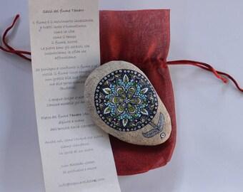Painted Stone Mandala. Polar flower . Doddle. Remember me .