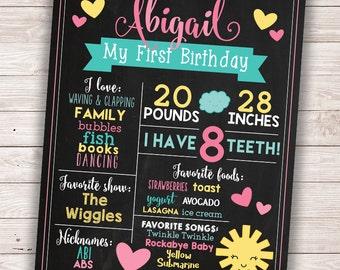 PRINTABLE Sunshine Birthday Chalkboard Sign - You Are My Sunshine Birthday Board