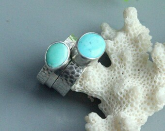 Turquoise set rings, sterling silver, turquoise rings, silver rings, stackable rings, sterling rings, silver 925, jewellery set,set of rings
