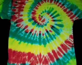 Rasta Spiral Tie Dye T-Shirt