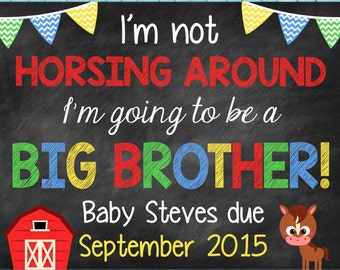 Farm Big Brother Pregnancy Announcement Horse Pregnancy Announcement Big Sister Announcement // Farm // Horse // Pregnancy Announcement