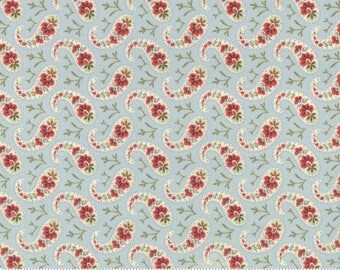 Moda Fabric - Snowfall by Minick & Simpson Ice 14834-14 - Quilt, Quilting, Clothing, Crafts, Christmas, Holiday