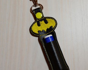 Lip Balm, Chapstick, Flash Drive, USB Drive Holder - Batman, yellow