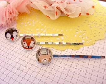 Little Friends Bobby Pins - set of 3, Gift for Her, Birthday Gift, Hair Clips, Australian Seller