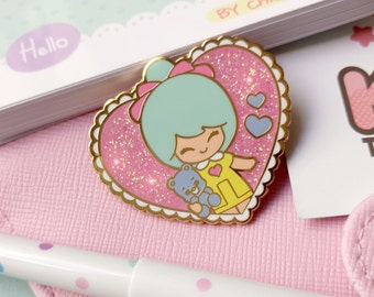 Enamel pin polly pocket style chic kawaii magic pastel kawaii cute pins with glitter