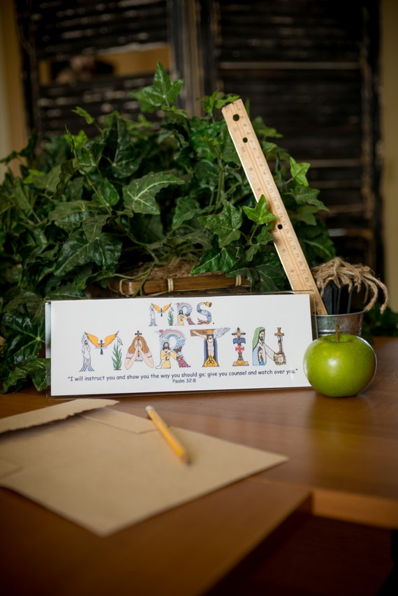 Christmas Gifts for Teacher Personalized Christian Art print