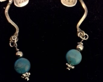 Butterfly and Turquoise earrings