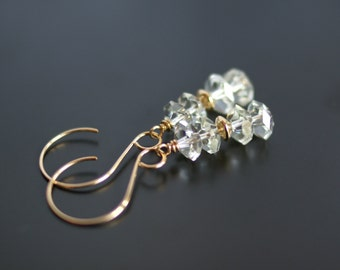 Green amethyst earrings, prasiolite earrings, 14k gold fill ear wires, holiday gift for her, amethyst jewelry, wedding jewelry, jewelry gift