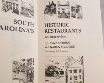 Cookbook - South Carolina Historic Restaurants and their Recipes