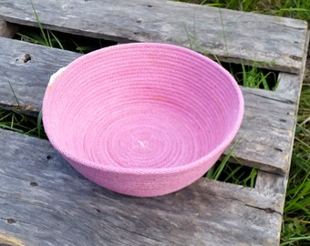 Small Hand-dyed Coiled Basket / Bowl