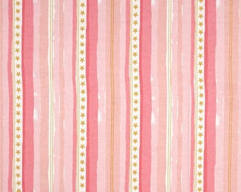 Stars and Stripes, by 1/2 yard, in Pink Metallic by Sarah Jane from the Magic! collection for Michael Miller