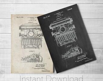 Typewriter Printables, Typewriter Print, Antique, Business Art, Office Decor, Secretary Gift, Vintage Typewriter, PP1029