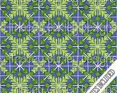 Tile Art, tiles digital paper, hand painted tiles, digital scrapbook paper, tiles pattern, green and navy tile, mosaic tile, tile print